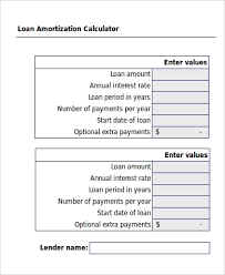 Amotization Calculator Sample Amortization Excel 6 Examples In Excel