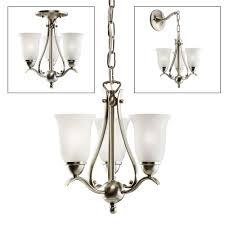 kichler lighting 1731 3 light dover pendalette chandelier