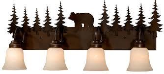 rustic lighting fixtures. Bozeman-4-light-vanity.jpg Rustic Lighting Fixtures