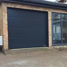hormann lpu67 thermo premium l ribbed silkgrain steel sectional doors
