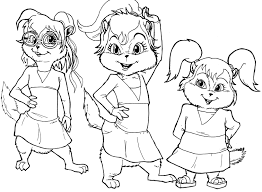 Small Picture Coloring Pages Kids Alvin and the Chipmunks Coloring Pages