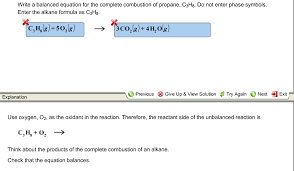 write a balanced equation for the complete combust chegg com combustion reactionsa chemical reaction