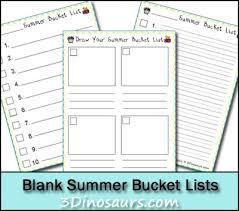 Bucket List Printable Template Free Blank Summer Bucket List