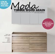 MODA Mm White Oak Timber Wood Grain Floor Standing Bathroom - Oak bathroom vanity cabinets