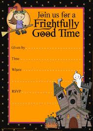 Halloween Invitation Template Free Printable Halloween Invitation Templates Fun For Christmas 6