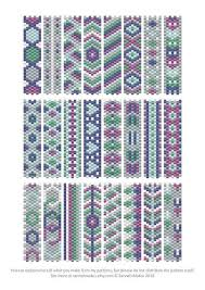 Bead Patterns New Carrier Bead Patterns Odd Count Peyote SixColour Patterns Full