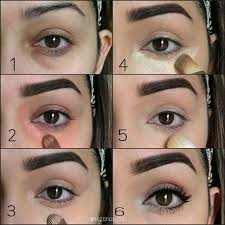 pictorial on how to cover dark circles using contour cream kit in um concealer brushbh cosmetics concealerbest under eye
