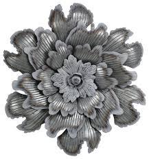 galvanized metal flower wall decor