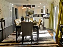 Monochrome Elegance  Black And White Striped Rugs - Modern dining room rugs