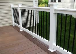 vinyl porch railing kits ideas home interior exterior