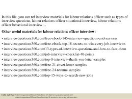 Top 10 Labour Relations Officer Interview Questions And Answers