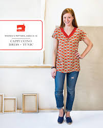 Tunic Sewing Pattern Gorgeous Digital Cappuccino Dress Tunic Sewing Pattern Shop Oliver S