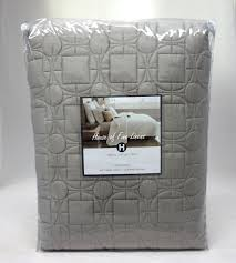 Hotel Collection Deco Quilted Platinum Twin Coverlet &  Adamdwight.com