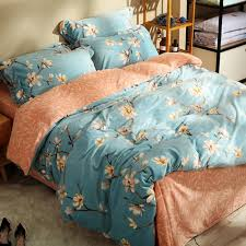 light blue flannel bedding sets for s flowers fleece duvet cover orange soft bedspread pillow case queen king bed linens king size duvet cover sets