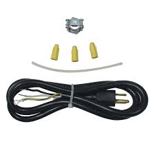 Whirlpool 6-ft 3-Wire Black Dishwasher Appliance Power Cord
