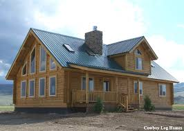 milled log home montana plan
