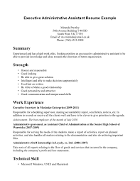 Receptionist Resume Objective Cooperative Vision Executive Unusual