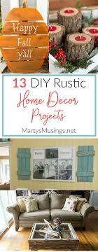 these 13 diy rustic home decor projects will give