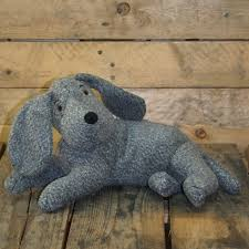 decorative dog doors. Grey Knitted Effect Fabric Laying Dog Doorstop ~ Decorative Door Stop Doors