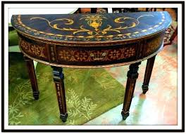 round entry tables half round entry table circle entry table surprising moon with mirror shaped tables