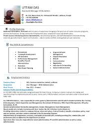 sample human resource administration resume entrancing admin
