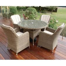 maze rattan winchester 4 seat round dining set with venice chairs