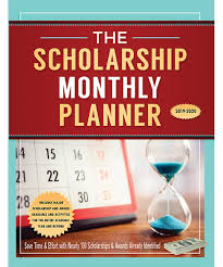 College Planners 2020 The Scholarship Monthly Planner 2019 2020