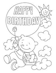 Flying With A Birthday Balloon Coloring Pages Download
