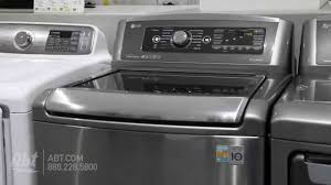Largest Top Loading Washing Machine Lg Top Load Steam Washer Wt5680hv Overview Youtube