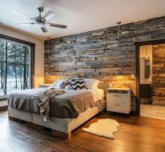 Reclaimed Weathered Wood Panel Bedroom Design