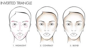 how to contour a heart or inverted triangle shape face 40plusstyle