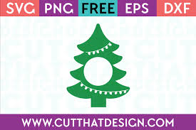 Free Svg Files Christmas Tree Monogram Design Cut That Design