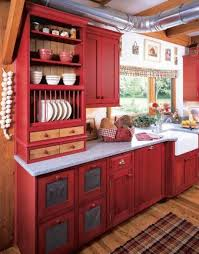 Attractive Red And Grey Kitchen Cabinets Stylish Red And White
