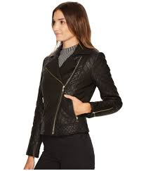 Cole Haan Diamond Quilted Moto w/ Exposed Zippers at Zappos.com & Color Adamdwight.com