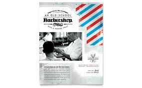barber flyer barbershop flyer template design