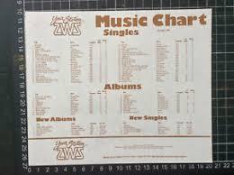 Details About 2ws Top 40 Pop Music Chart 15 8 80 Record Shop Flier Australia Village People