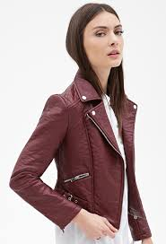 forever 21 zippered faux leather moto jacket 37 forever 21 lookastic com