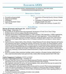 Fraternity Resume Director Of Fraternity And Sorority Life Resume Example