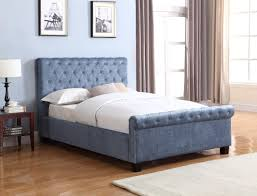 Ottoman In Bedroom Flair Furnishings Lola Fabric Ottoman Bed Blue Fabric Beds Bed