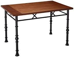 kings brand furniture wood with metal dining dinette table ash