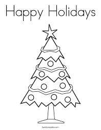 Small Picture Happy Holidays Coloring Page Twisty Noodle
