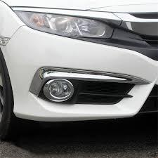 2016 Nissan Rogue Fog Light Cover Buy Deautobug Abs Chrome Finish Front Fog Light Decoration
