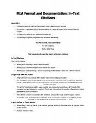 Mla Format For Intext Citations Mla Format And Documentation In Text Citations Valencia