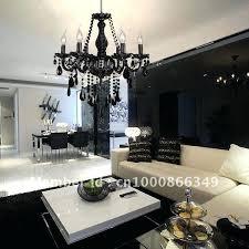 chandelier black crystal free modern black color 6 lights crystal chandelier in pendant lights from