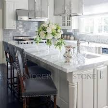 natural white marble with grey veins kitchen countertop ideas of carrara white imported from italy