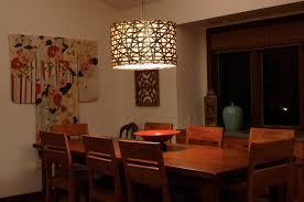 modern drum pendant dining room lighting fixtures made of metal