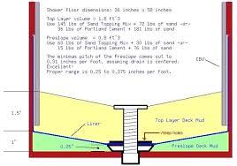 building a shower pan mortar liner installation