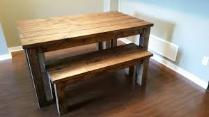 benches dining tables robtnchguy provincial pine table and bench black with chairs ed glass set small