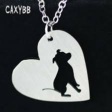 stainless steel heart shaped pit bull necklace pitbull dog necklaces choker chain pendant animal pets new puppy for women gifts necklace chokers chain