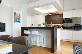kitchen kitchen bar table ikea teak laminate top black ceramic backsplash tile glass open shelving